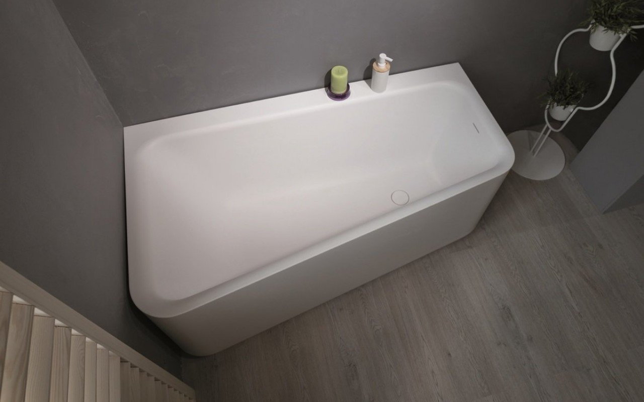 jane white stone corner tub