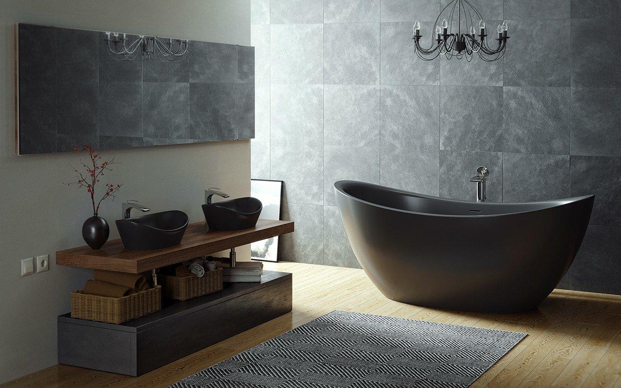 Purescape 171 Black Freestanding Slipper Bathtub web (3)