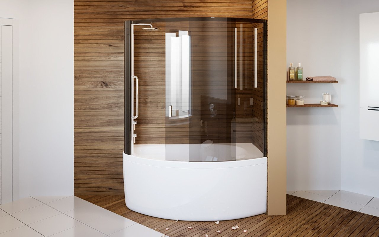Aquatica Anette-C-L Shower Tinted Curved Glass Shower Cabin picture № 0
