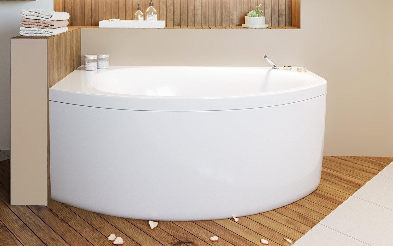 Aquatica Anette-A-R-Wht Corner Acrylic Bathtub