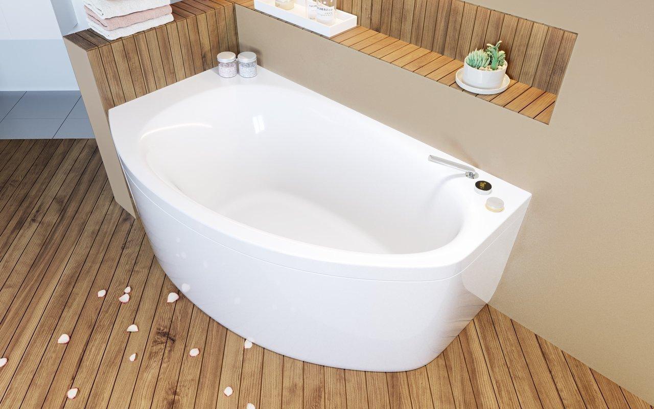Aquatica Anette-C-R-Wht Corner Acrylic Bathtub