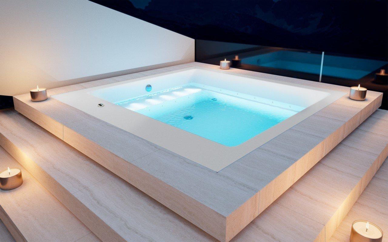 Aquatica Lacus-Wht Outdoor Drop-In Acrylic Bathtub