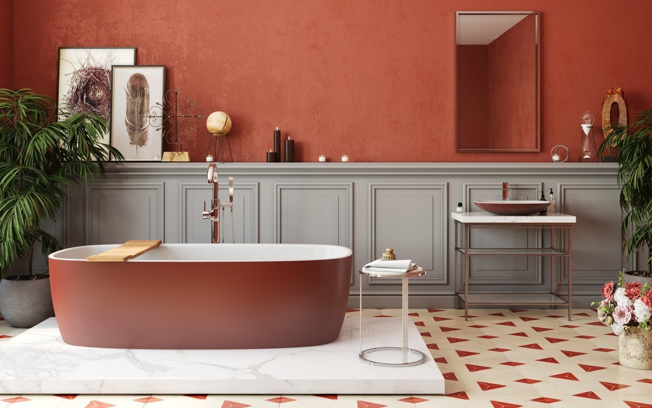 Aquatica Coletta Oxide Red Wht Freestanding Solid Surface Bathtub 04 (web)