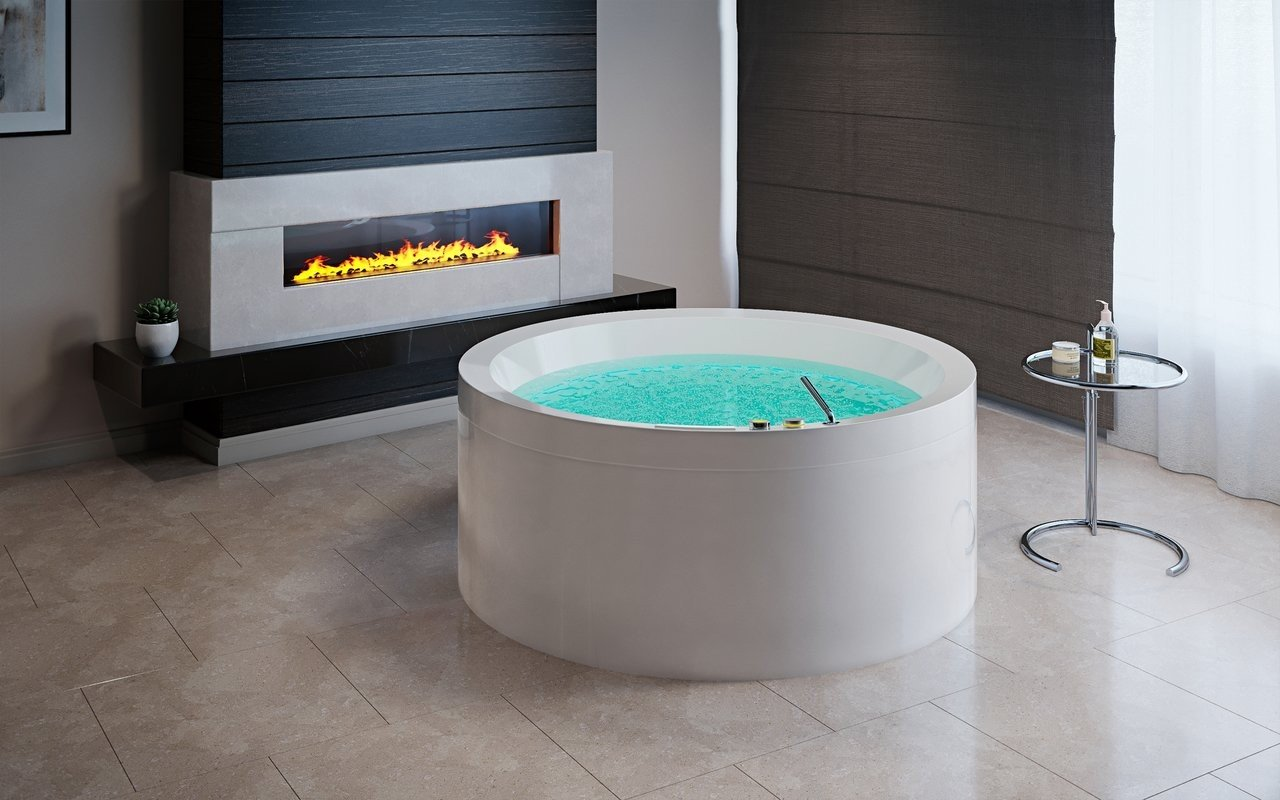 Aquatica Dream Rondo HydroRelax Jetted OutdoorIndoor Bathtub US version 240V 50 60Hz 01 (web)