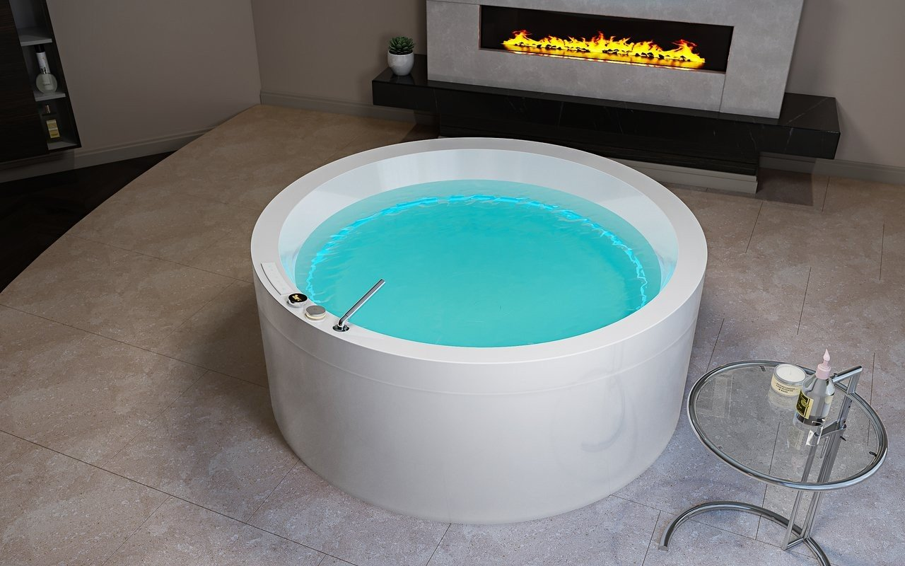 Aquatica Dream Rondo HydroRelax Jetted Outdoor/Indoor Bathtub (US ...