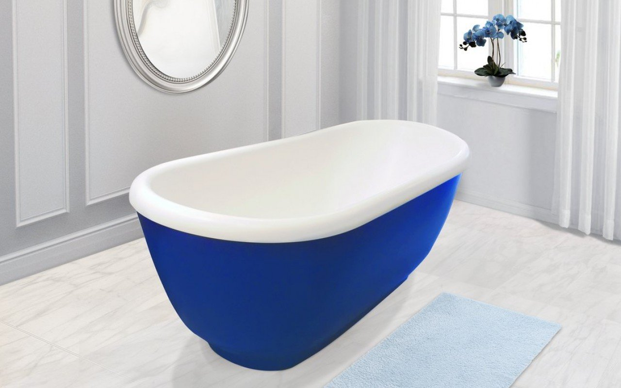 Aquatica Fido-Blue™ Freestanding Solid Surface Bathtub