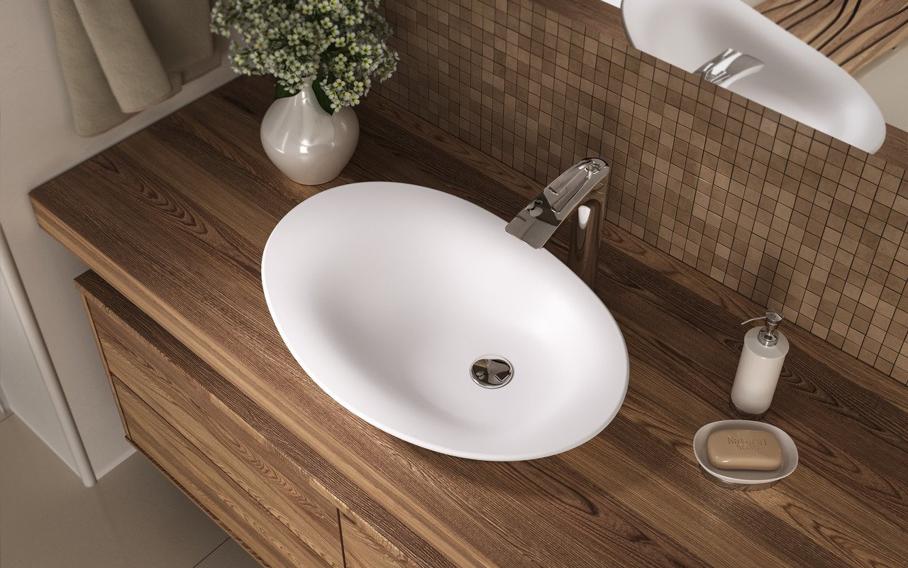 Aquatica Nanomorph-Wht Stone Bathroom Vessel Sink picture № 0