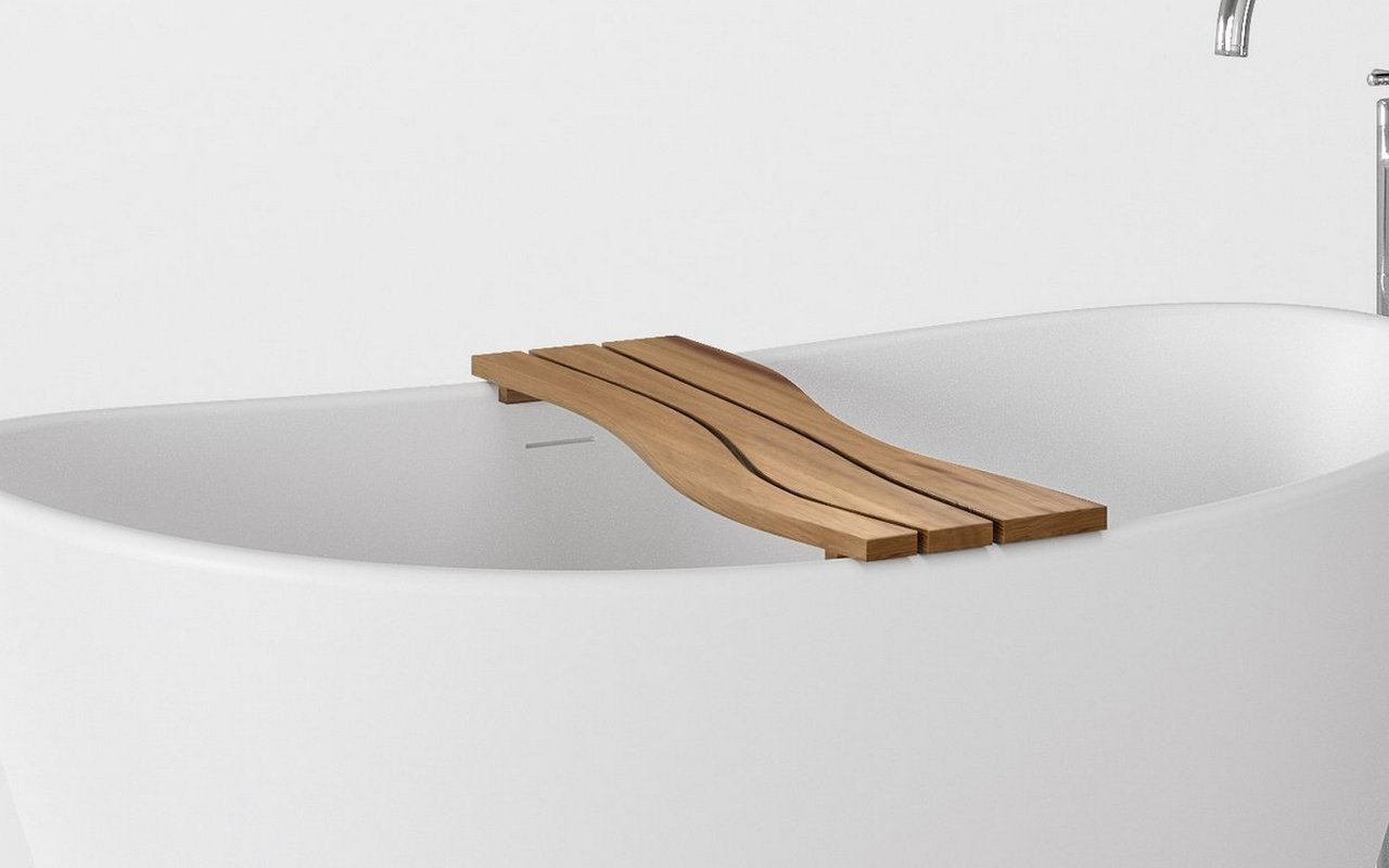 Aquatica Onde Waterproof Iroko Wood Bathtub Tray 03 (web)