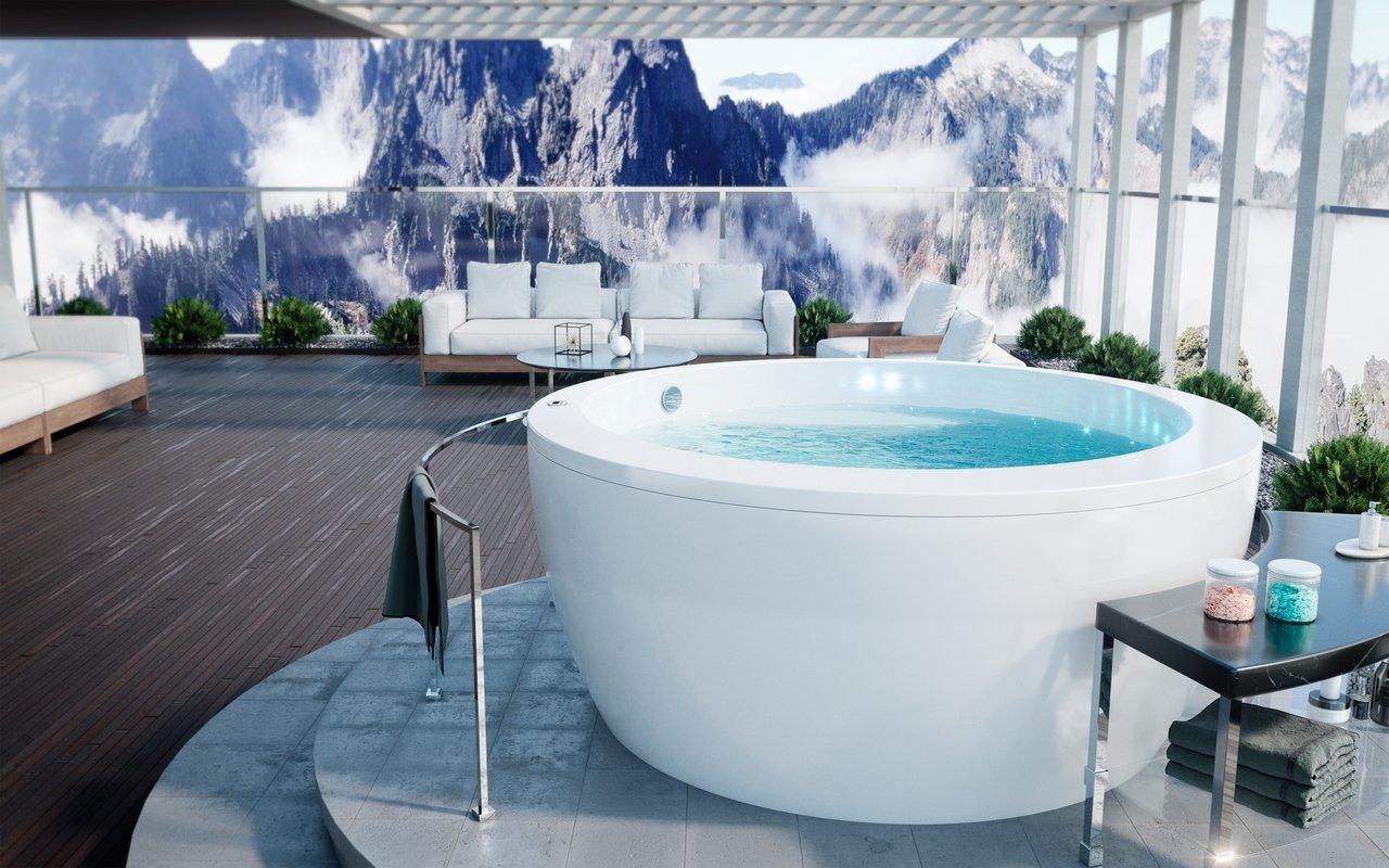 Aquatica Pamela-Wht Outdoor Freestanding Acrylic Bathtub