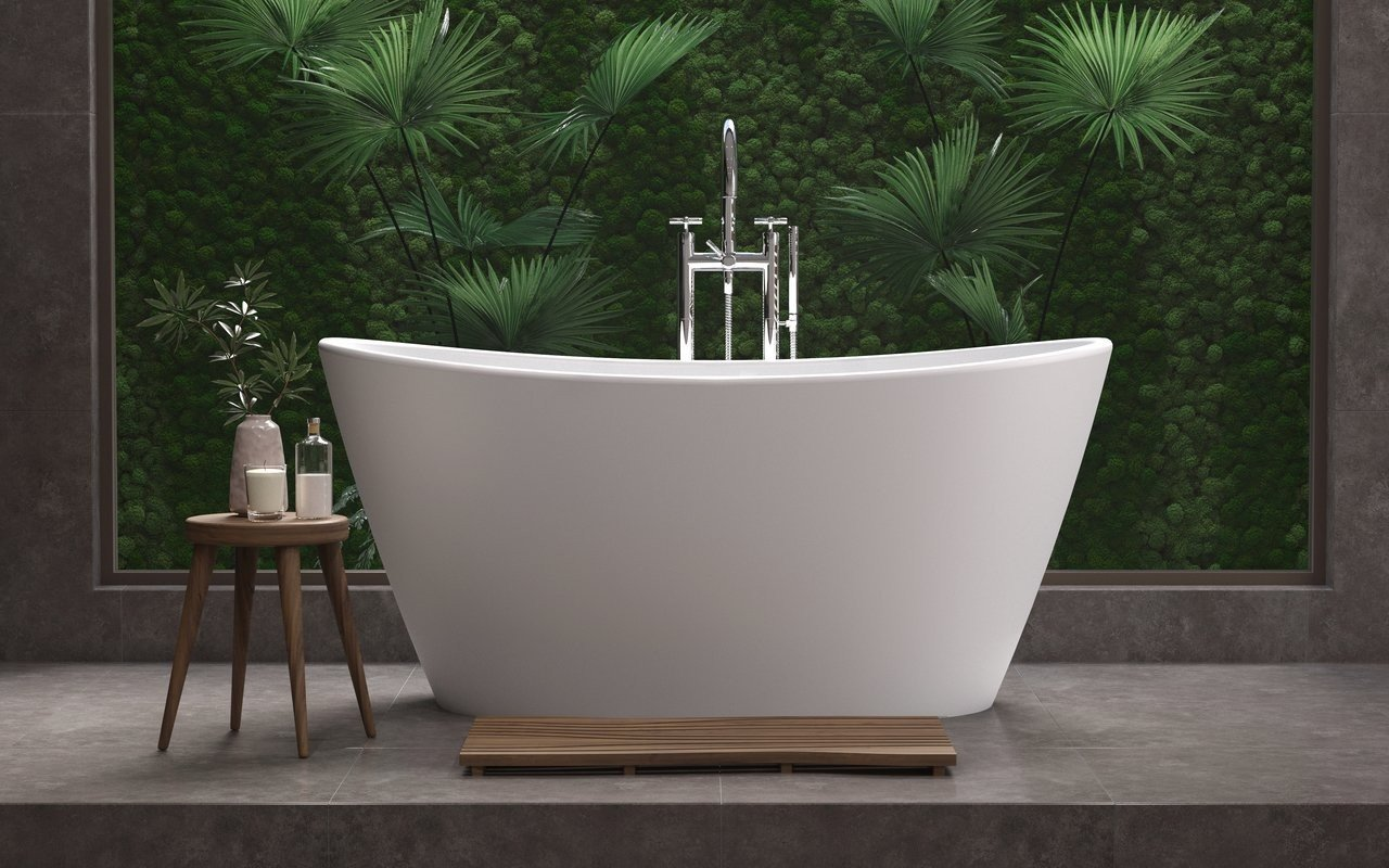 Aquatica purescape 748m freestanding solid surface bathtub fine matte