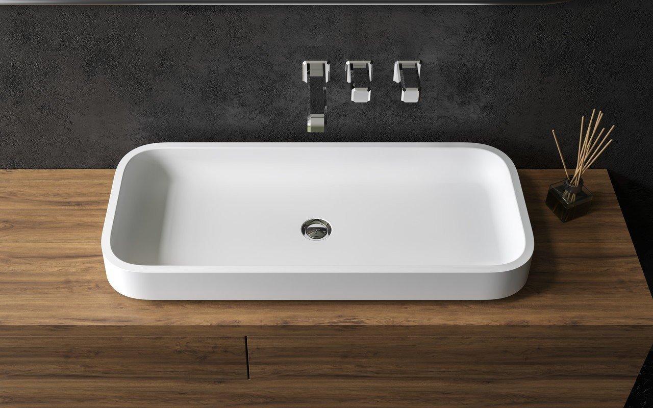 ᐈluxury Aquatica Solace B Wht Rectangular Stone Bathroom Vessel Sink Best Prices Aquatica