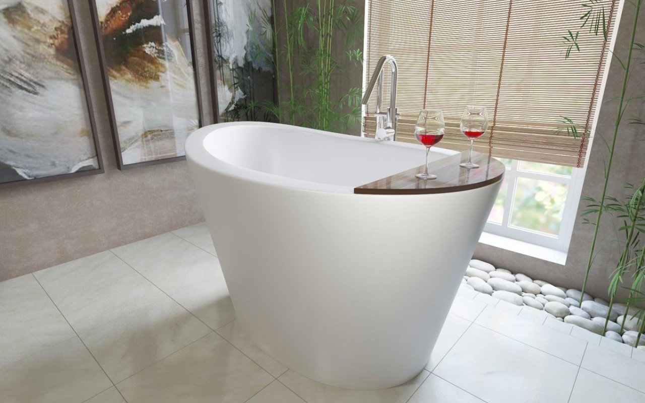 Aquatica True Ofuro Freestanding Stone Japanese Soaking Bathtub picture № 0