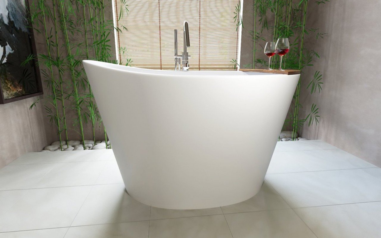 Aquatica TrueOfuro Freestanding Stone Bathtub  2 Web Japanese Soaking Tub With Best Quality