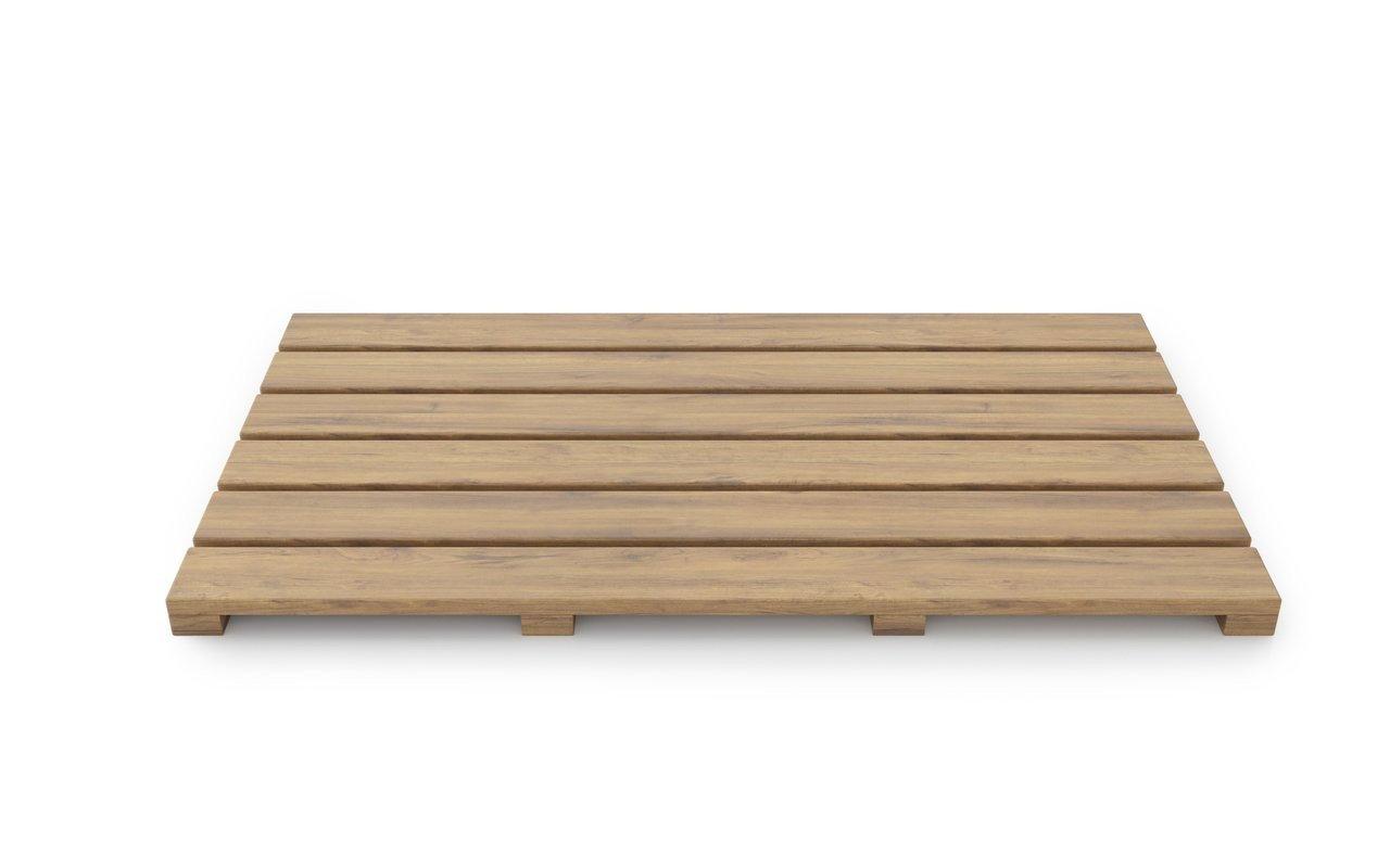 ᐈluxury Aquatica Universal 33 5 Waterproof Teak Wood Bath Shower Floor Mat Best Prices Aquatica