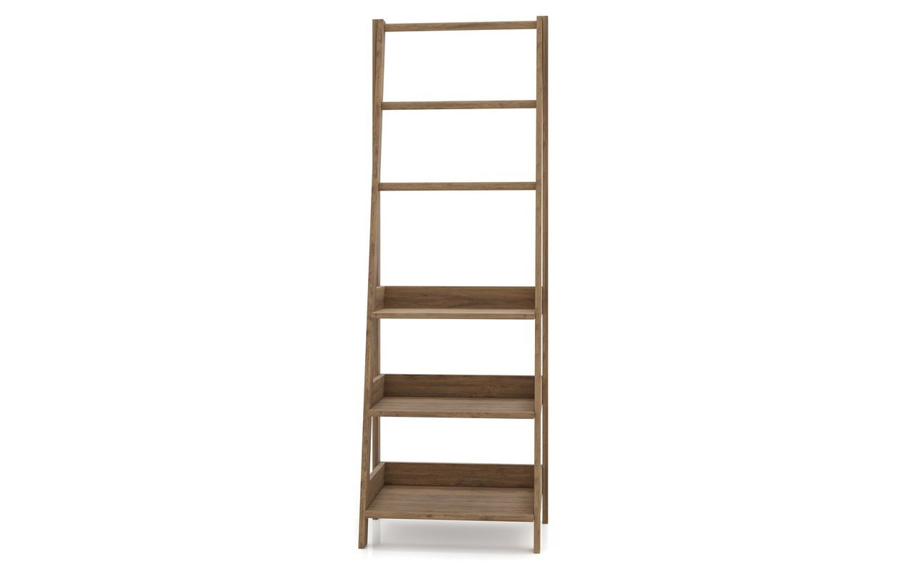 "Aquatica Universal 70.75"" Waterproof Teak Wood Bathroom Ladder Shelf picture № 0"