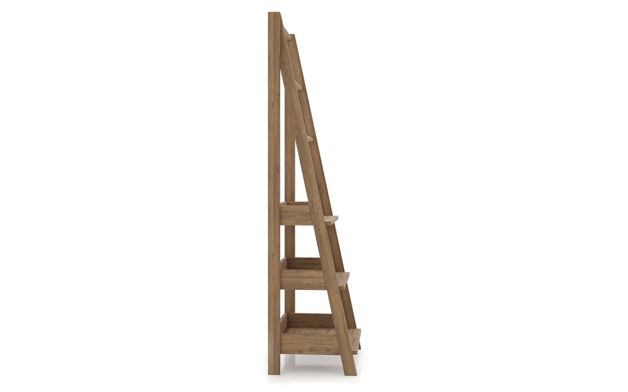 Aquatica Universal Waterproof Teak Bathroom Ladder Shelf 02 (web)