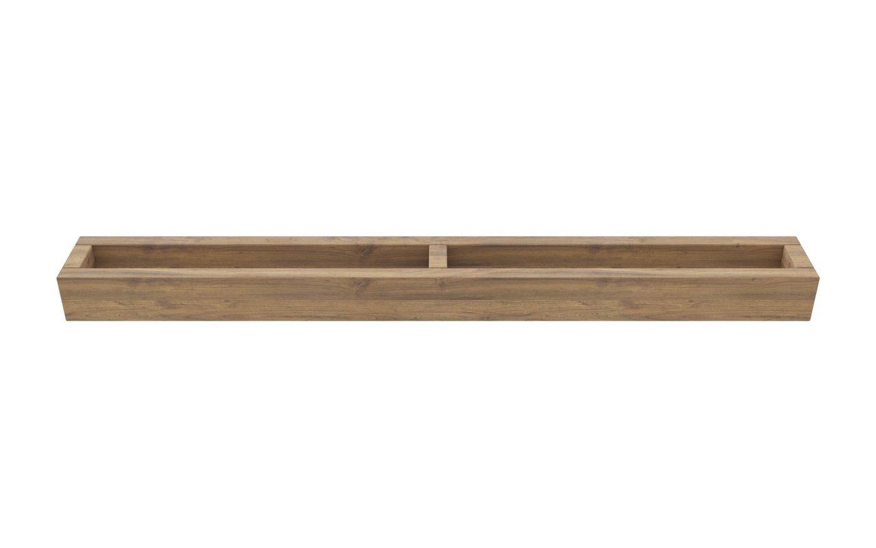 ᐈluxury Aquatica Universal 32 Waterproof Wall Mounted Teak Wood Towel Rack Best Prices Aquatica