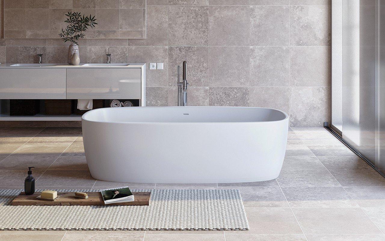 ᐈLuxury 【Aquatica Coletta™ White Freestanding Solid Surface ...