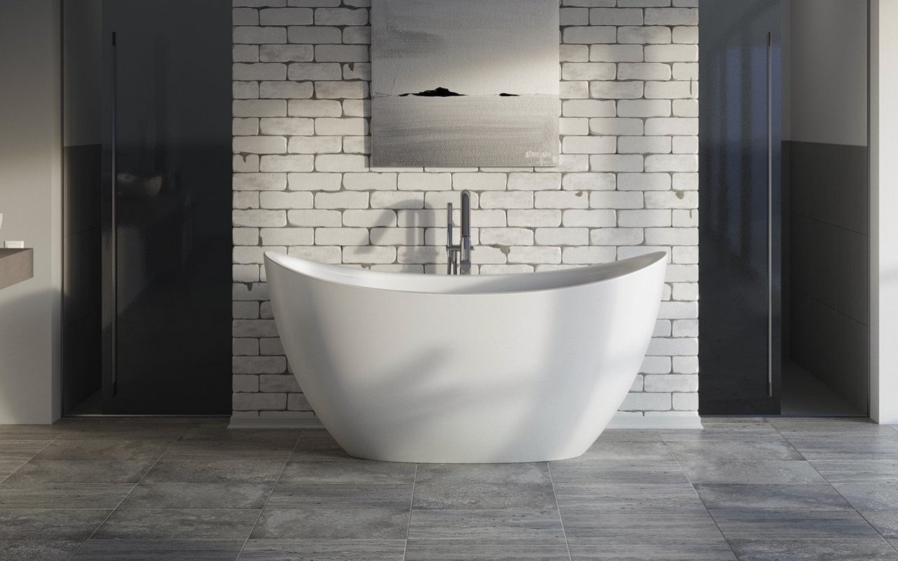 Aquatica purescape 171 mini freestanding cast stone bathtub fine matte