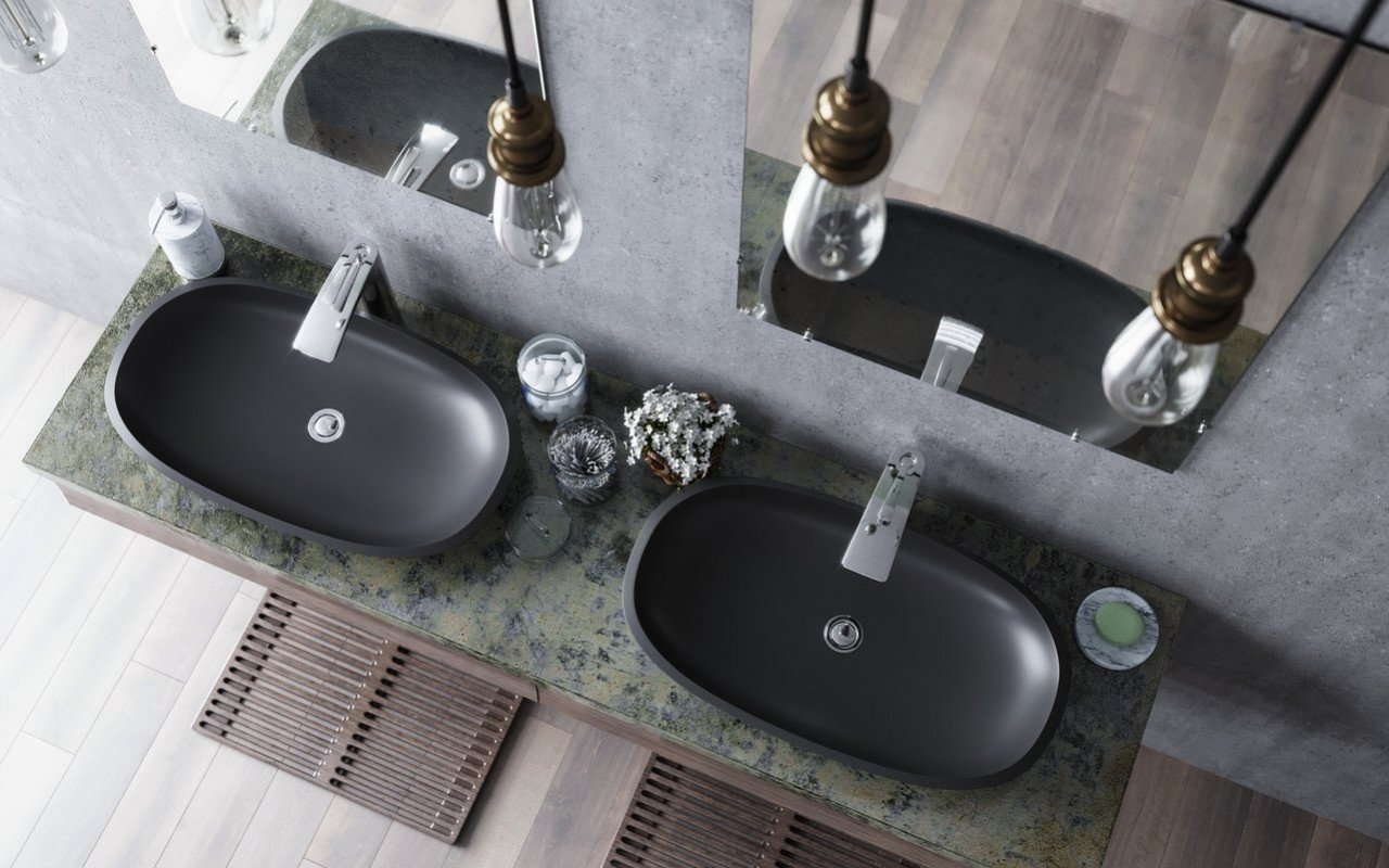 Aquatica Coletta-B-Blck Stone Bathroom Vessel Sink picture № 0