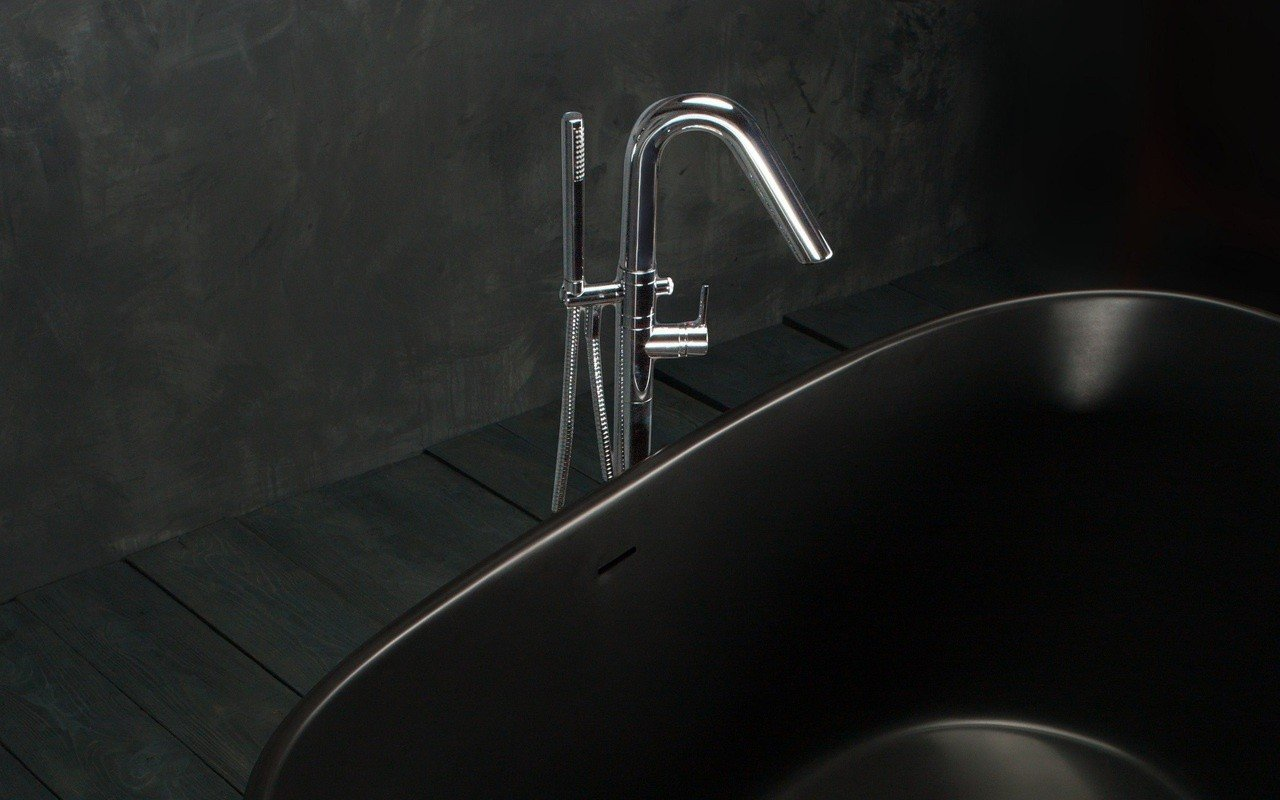 Aquatica Colonna WS Floor Mounted Tub Filler – Chrome