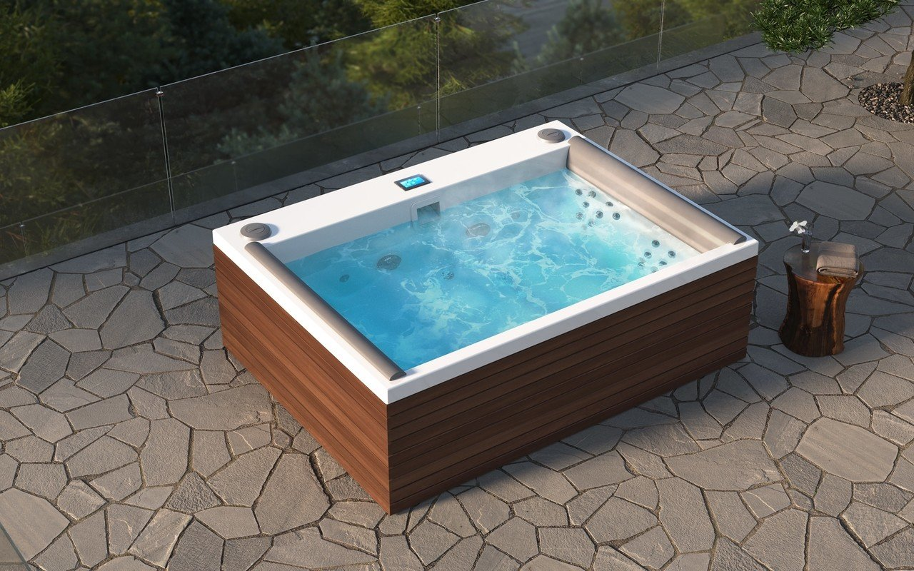ᐈ Aquatica Downtown Spa With Thermory Wooden Siding 220 240v 50 60hz Buy Online Best Prices