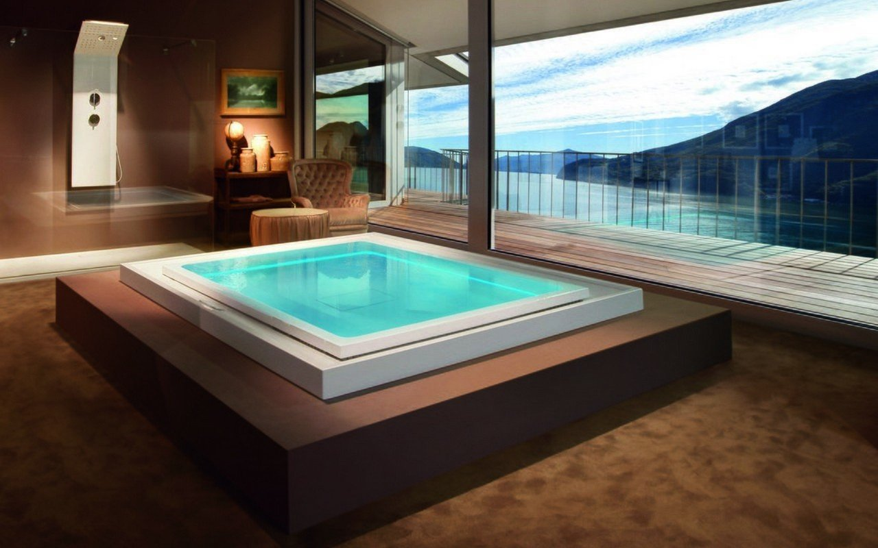 Luxury Infinity Hot Tub with Hydro-massage | Fusion Cube Spa