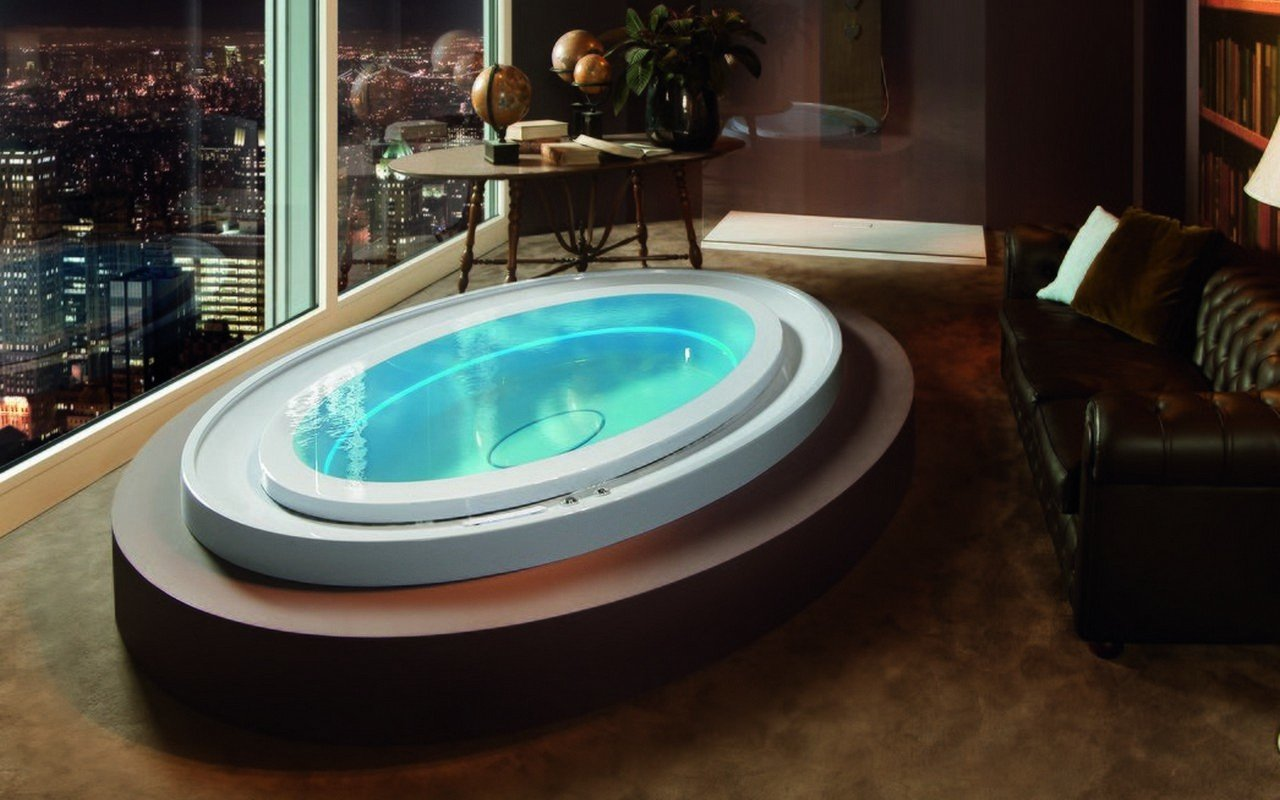 Aquatica Fusion Ovatus HydroRelax Jetted Outdoor/Indoor Bathtub (US version  240V/60Hz)