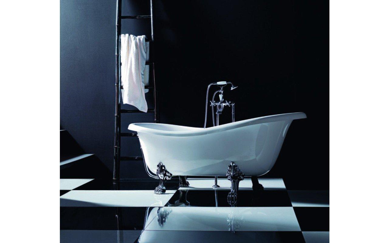 Aquatica Iliad-Wht Freestanding Acrylic Bathtub