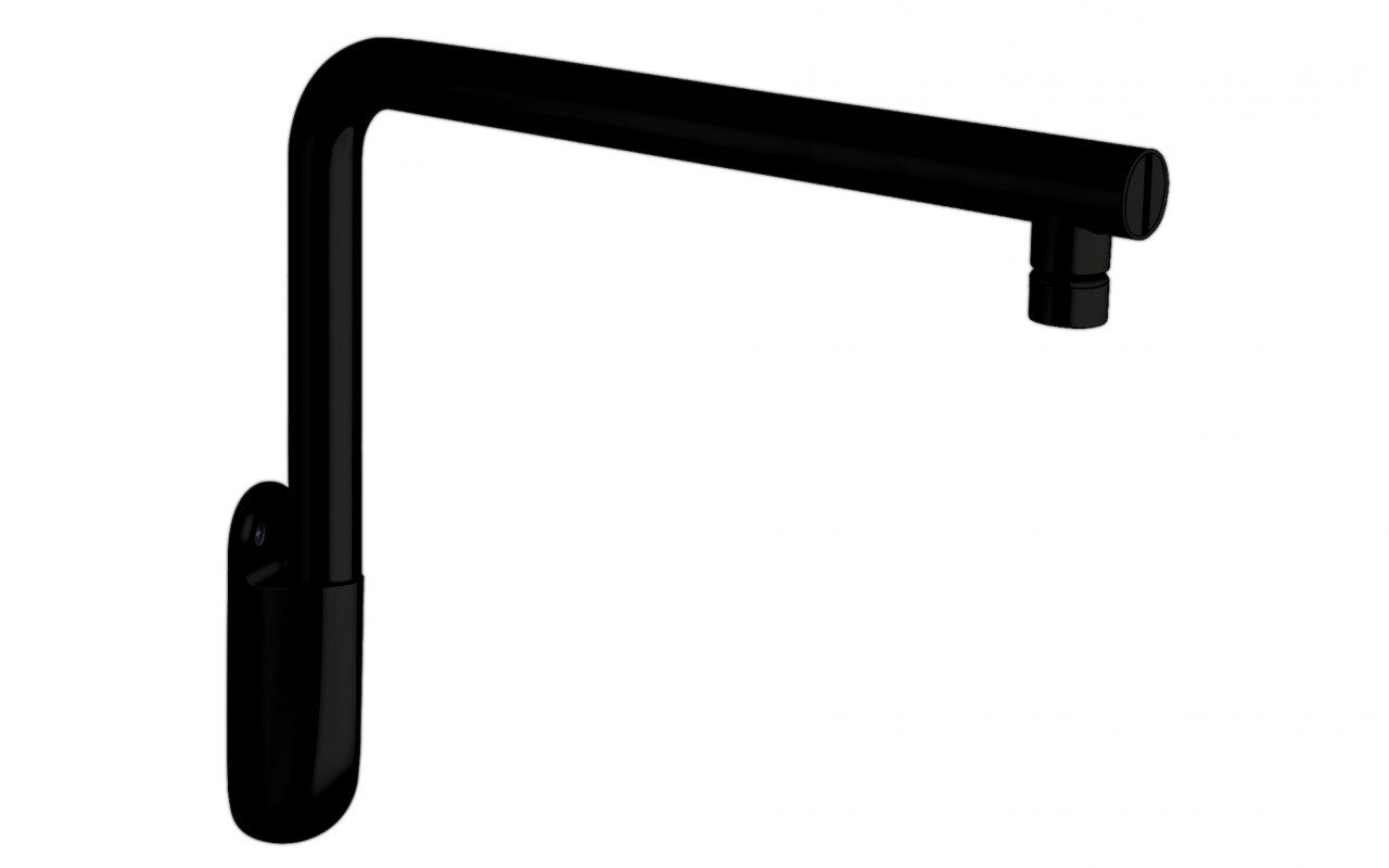 Aquatica Short Wall-Mounted Shower Arm - Black Matte picture № 0