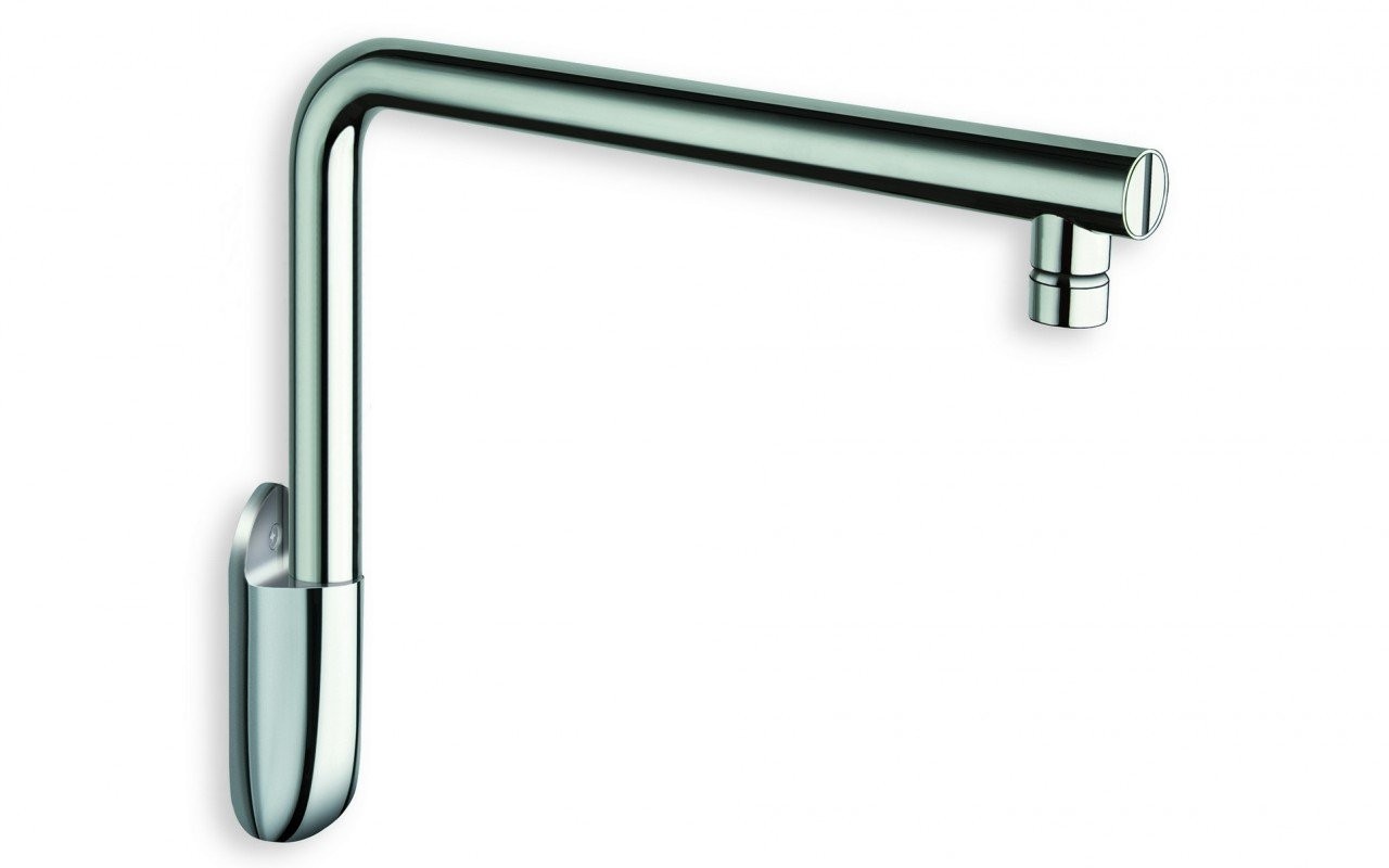 Aquatica Short Wall-Mounted Shower Arm - Chrome picture № 0