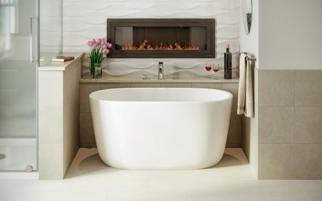 Aquatica Lullaby-Nano-Wht™ Small Freestanding Solid Surface Bathtub picture № 0
