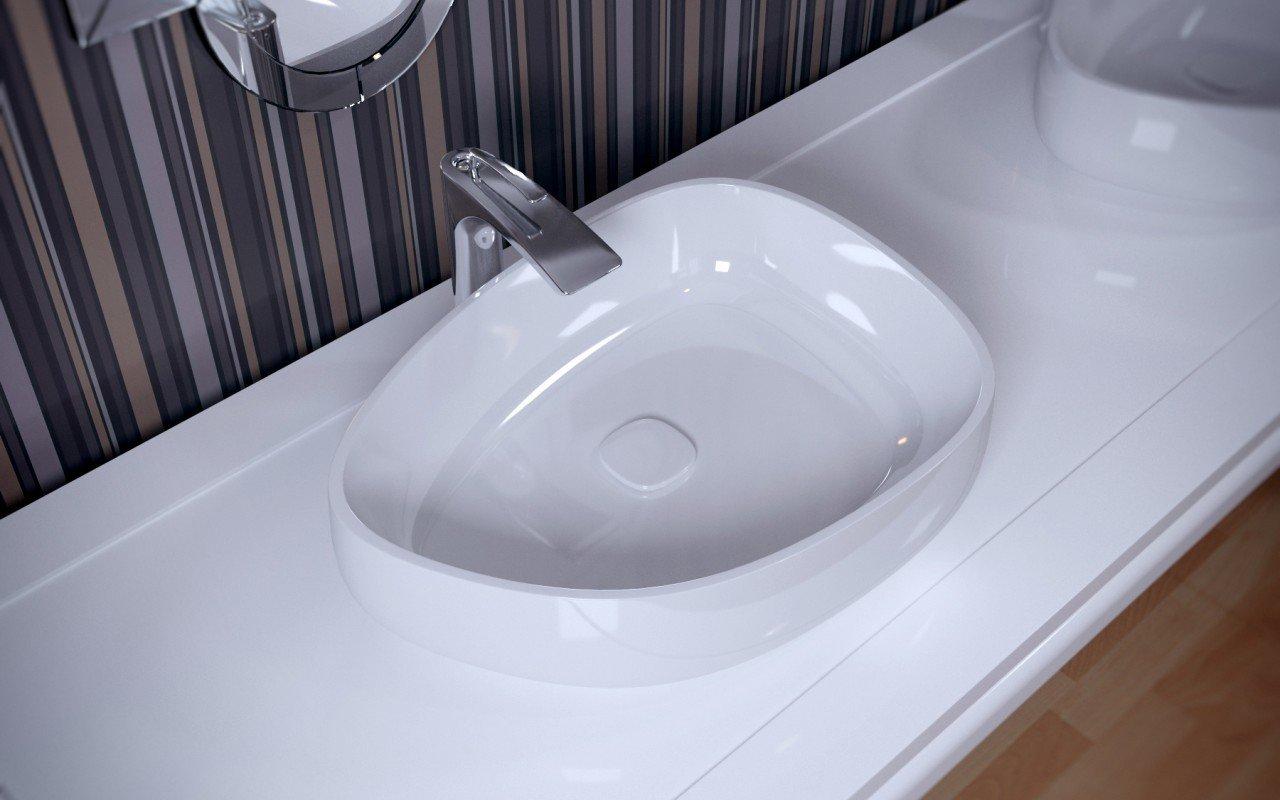 White Bathroom Sink Drain