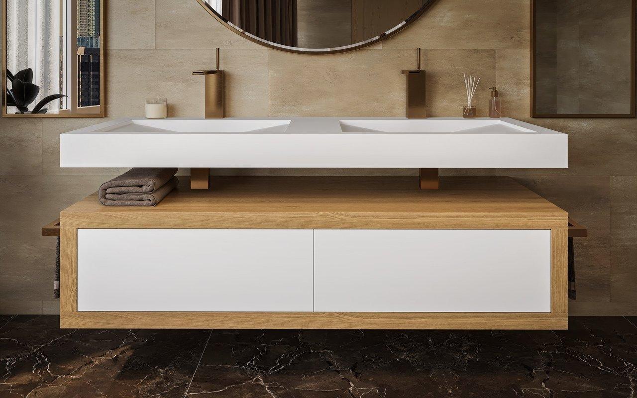 ᐈ Aquatica Millennium Wht Stone Oak Wood Bathroom Vanity Buy Online Best Prices