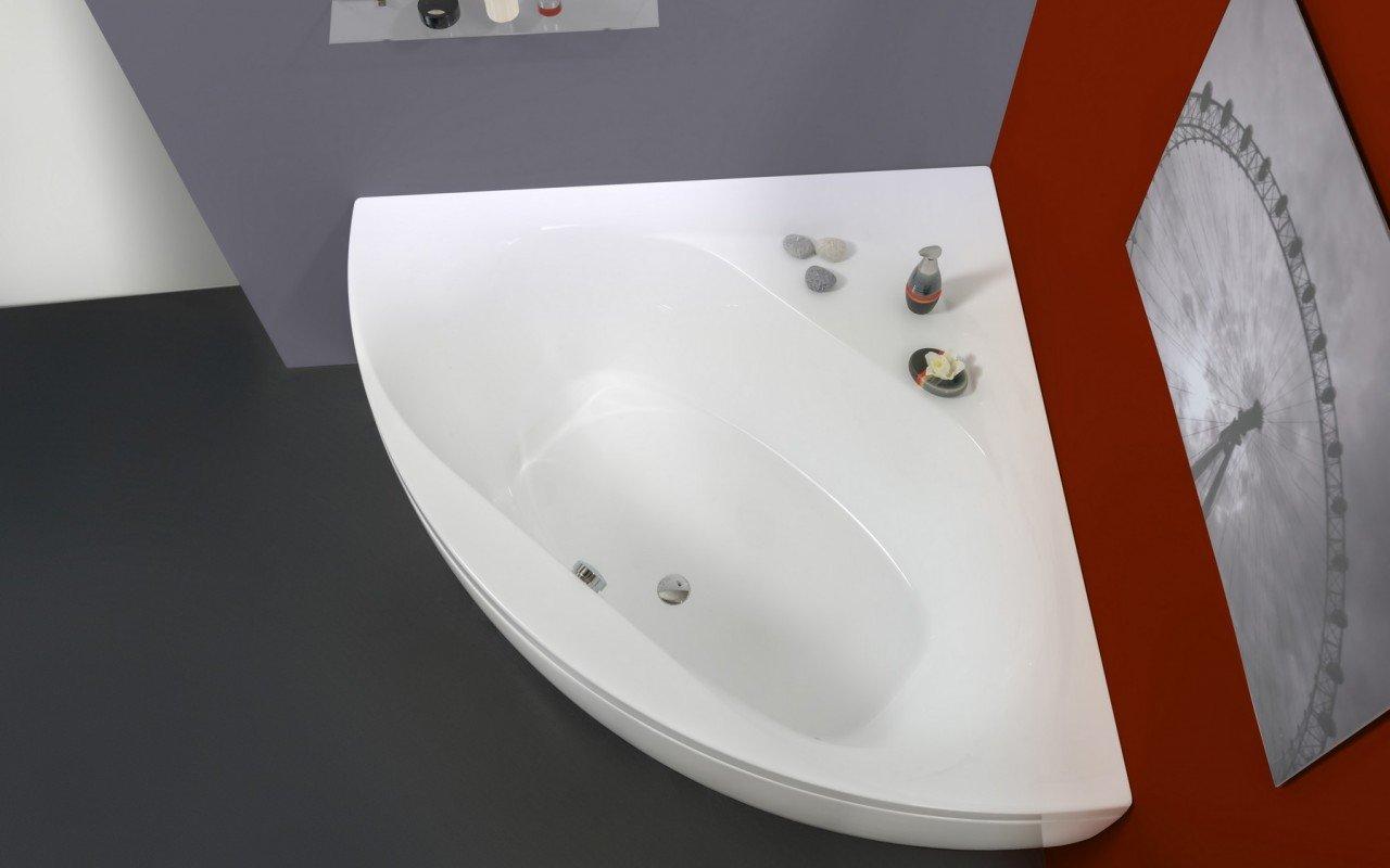 ᐈluxury Aquatica Olivia Wht Small Corner Acrylic Bathtub Best Prices Aquatica