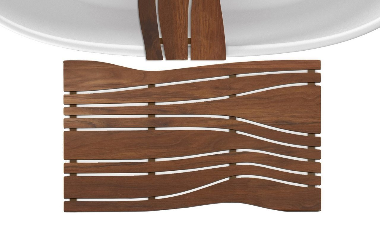 Onde waterproof iroko wood floor mat 04 (web)