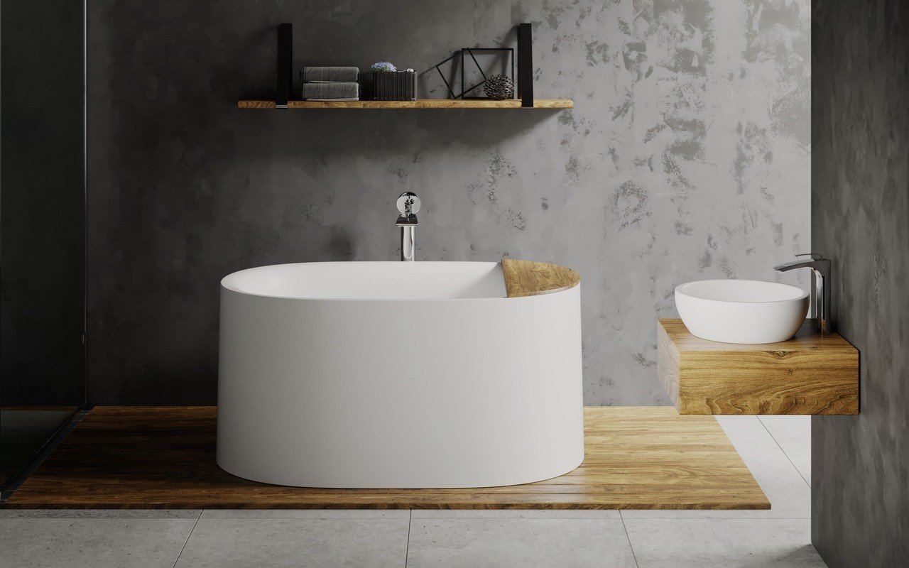 ᐈluxury Aquatica Sophia Wht Freestanding Solid Surface Bathtub Fine Matte Best Prices Aquatica