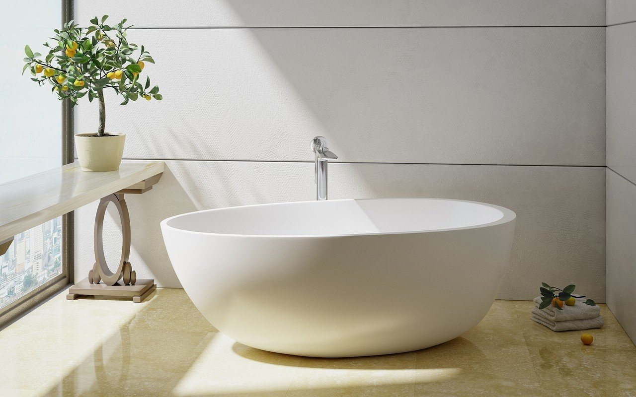 ᐈluxury Aquatica Spoon 2 Purescape 204am Egg Shaped Freestanding Solid Surface Bathtub Best Prices Aquatica