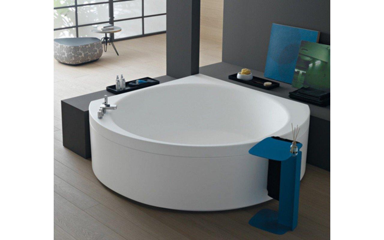 Aquatica Suri-Wht Corner VelveX™ Bathtub - Fine Matte