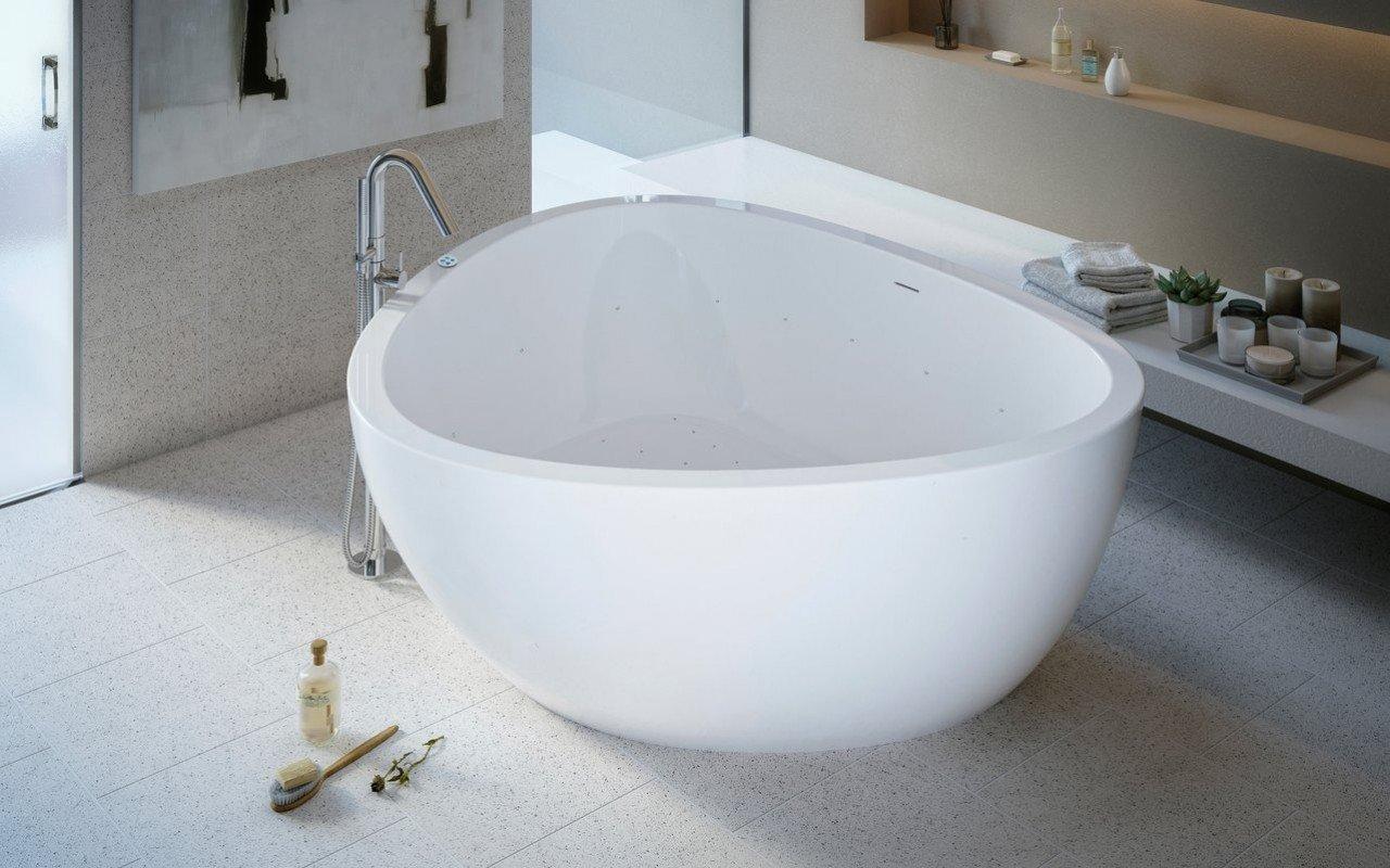 Aquatica Trinity-G-Wht Relax Light Weight Stone Air Massage Bathtub ...