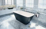 Arabella Black White Freestanding Solid Surface Bathtub by Aquatica web (3)