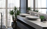 Aquatica coletta gunmetal wht solid surface sink 01