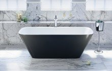 Arabella Black White Freestanding Solid Surface Bathtub by Aquatica web (6)