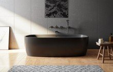 Coletta black freestanding solid surface bathtub 01 (web)