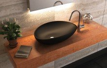 Matte Black Vessel Sink picture № 2