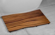 Aquatica Onde Waterproof Iroko Wood Floor Mat 03 3