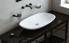 Small White Vessel Sink picture № 4