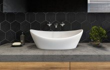Small White Vessel Sink picture № 7