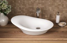 Small White Vessel Sink picture № 13