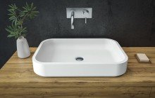 Small White Vessel Sink picture № 15